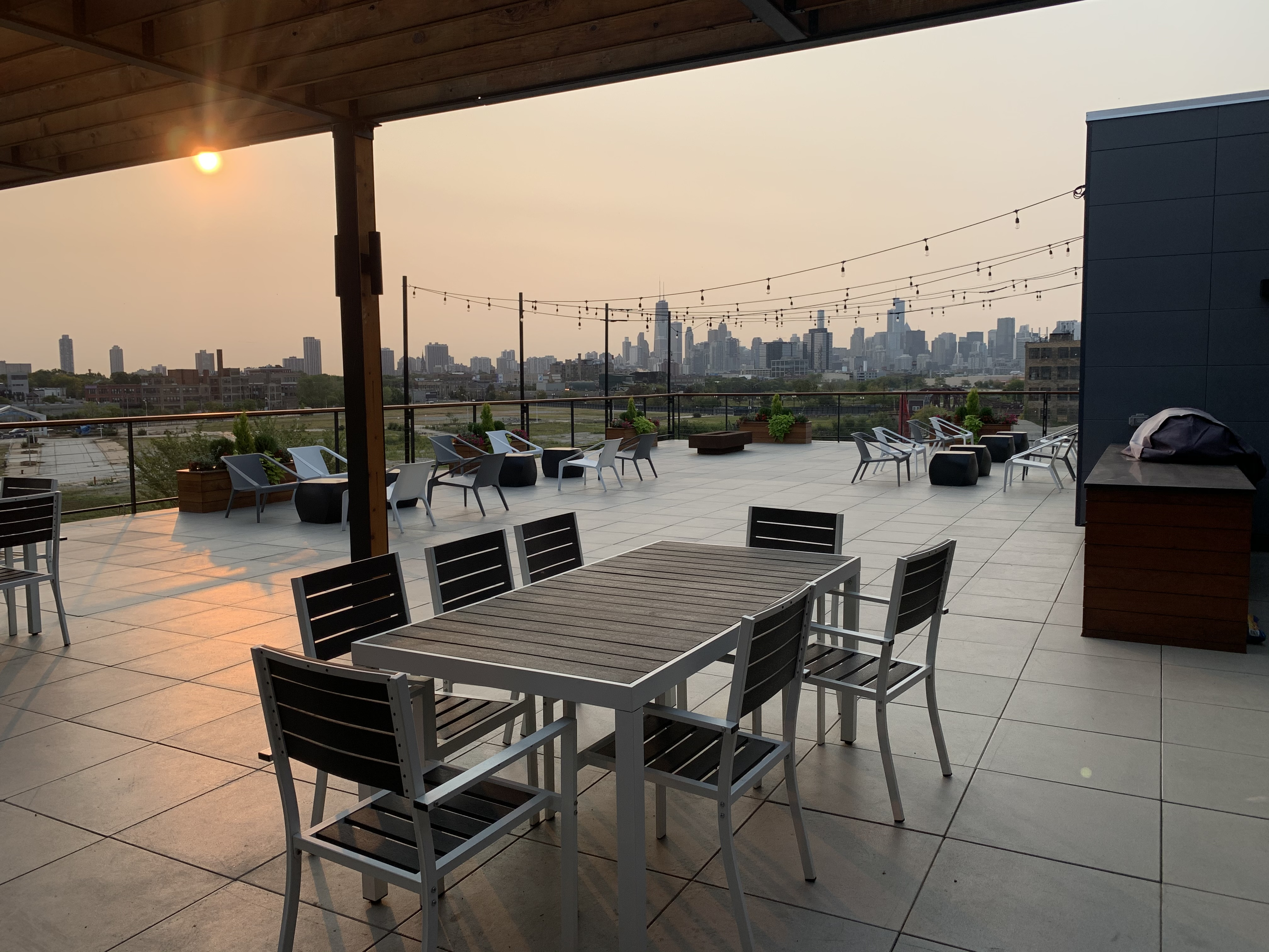Roof Terrace with Panoramic City Views