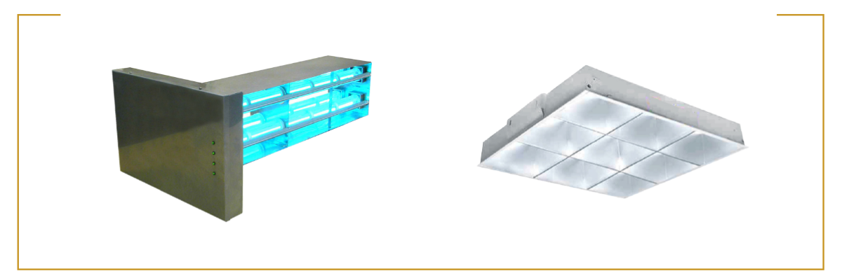 Commercial-Grade UV Technology. Airborne Mitigation system and Contact Mitigation system.